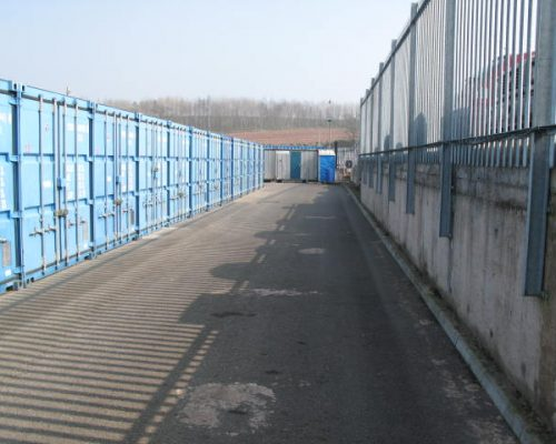 Steel palisade security fencing | Whiteball Self Storage