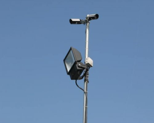 Floodlight roadways and CCTV | Whiteball Self Storage