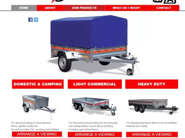 Competitively priced trailers in many combinations for leisure or work