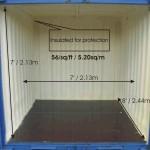 An insulated smaller 8 feet long by 7 feet wide unit