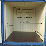 10 feet long and 8 feet wide insulated storage unit.