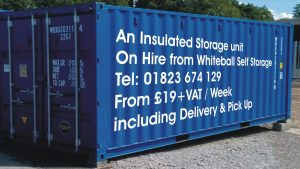 We can deliver insulated 20 x 8 units to your premises.